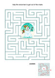 Maze game for kids - snowman Royalty Free Stock Images