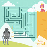 Maze game for kids. Vector Stock Photography