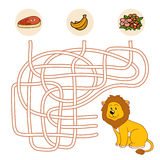 Maze game (lion) Stock Image