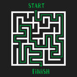 Maze Game Logo. Labyrinth with Entry and Exit. Royalty Free Stock Photography