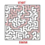 Maze Game Logo Labyrinthe avec l'entrée et la sortie Photographie stock libre de droits