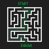 Maze Game Logo Labyrinthe avec l'entrée et la sortie Image stock
