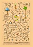 Maze Game met Verschillende Lampen Stock Foto