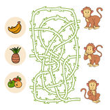Maze game (monkey) Royalty Free Stock Image