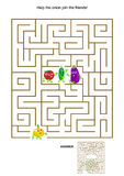 Maze game with onion and his vegetable friends Royalty Free Stock Photo