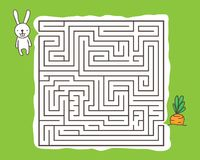 Maze game with rabbit and carrot Stock Photo