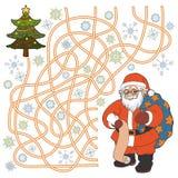 Maze game (Santa Claus) Royalty Free Stock Photo