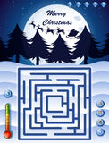 Maze game template with christmas theme Stock Photo