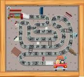 A maze game template