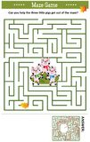 Maze game with three little pigs. Maze game: Can you help the three little pigs get out of the maze? Answer included vector illustration