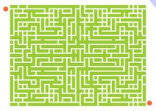 Maze game. Vector illustration of maze game for kids with answer available on additional format Royalty Free Stock Photography