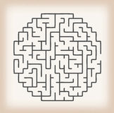 Maze Game On Vintage Background illustration libre de droits