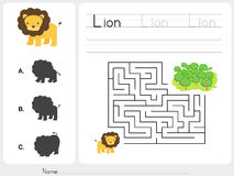 Maze game - Worksheet for education Royalty Free Stock Photography