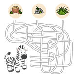Maze game (zebra) Royalty Free Stock Photography