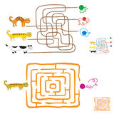 Maze games for preschoolers. Royalty Free Stock Photo
