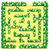 Maze in the garden vector illustration