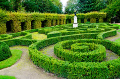 Maze garden. Beautiful maze garden in France Stock Image