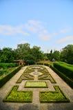Maze Garden bij bij Koninklijke Botanische Tuinen, Kew stock foto's