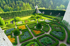 Maze Garden In Pieskowa Skala Castle Near Krakow Stock Images