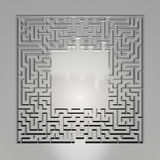 Maze on gray background. Concept for decision-making. Stock Image