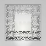 Maze on gray background. Concept for decision-making. Overhead view. 3d illustration Royalty Free Stock Photo