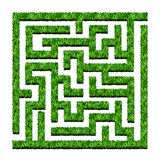 Maze of green bushes, labyrinth garden. Vector illustration. Iso. Lated on white background Stock Photo