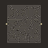 Maze HARD design puzzle with specify input and output dark Royalty Free Stock Image