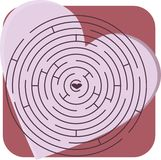 Maze with heart Stock Photography
