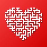 Maze heart Royalty Free Stock Photo