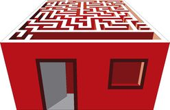 Maze house Royalty Free Stock Images