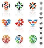 Maze icons Royalty Free Stock Image