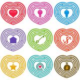 Maze Icons : Targets for life, Labyrinths Stock Photo
