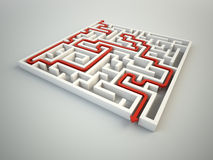 Maze illustration. Finding the solution concept Royalty Free Stock Photography