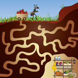 Maze. Illustration with game for children: maze Royalty Free Stock Images