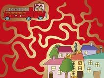 Maze. Illustration of game for children: maze Stock Images