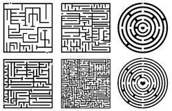 Maze illustration Royalty Free Stock Photos