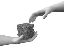 Free Maze In The Hands Stock Photography - 4369892