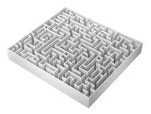 Maze isolated on white background, 3d rendering illustration Stock Photo