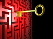 Maze key Stock Photo
