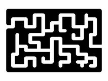 Maze, labirynth vector symbol icon design. Royalty Free Stock Photography