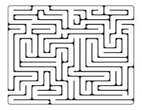 Maze, labirynth vector symbol icon design. Royalty Free Stock Images