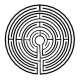 Maze (labyrinth) Royalty Free Stock Photo