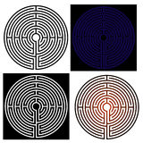 Maze - labyrinth. Abstract vector illustration of the maze - labyrinth stock illustration