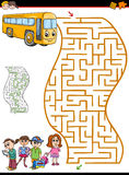 Maze or labyrinth activity for kids vector illustration