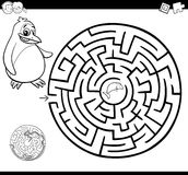 Maze or labyrinth coloring page Royalty Free Stock Images