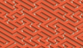 The maze, labyrinth - endless Royalty Free Stock Images