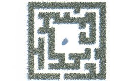 Maze Labyrinth financiero hecho de billetes de banco de los usd Foto de archivo libre de regalías