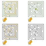 Maze or labyrinth game for children. Vector illustration. EPS 10 Royalty Free Stock Photo