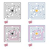 Maze or labyrinth game for children. Vector illustration. EPS 10 Royalty Free Stock Photography