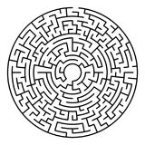 Maze labyrinth game. Maze labyrinth. Circular game isolated on background royalty free illustration